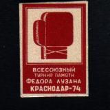 Значки. Бокс. Всесоюзный турнир памяти Федора Лузана Краснодар-74. Тип 2