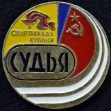 Значки. X спартакиада Кубани. Судья, 1982 год
