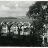 """Геленджик. Пляж дома отдыха """"Черноморец"""", 1957 год"""