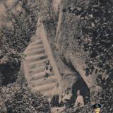 Горячий Ключ. Грот и лестница им. Гоголя под Отвесной скалой, до 1917 года
