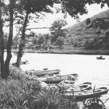 Горячий Ключ. Лодки на реке Псекупс.