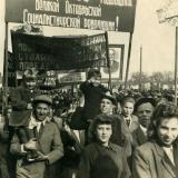 Майкоп. 38-я годовщина Октябрьской революции, 1955 год