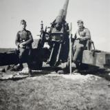 Немецкий артиллерийский расчет в Новороссийске, точное место съёмки неизвестно