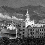 Новороссийск. Вид на порт с площади Героев, 1966 год