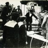 Посещение Деникиным военного корабля. Новороссийск, 1920 год