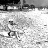 Южная Озереевка. Пляж у базы отдыха железнодорожников. 1975 год.
