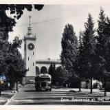 Сочи. Кирпичная улица, вид на вокзал, 1954 год