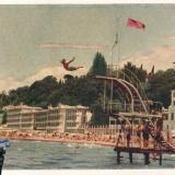 """Сочи. Пляж у санатория """"Ривьера"""", 1956 год"""