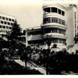 Сочи. Центральный санаторий РККА. Вид на один из корпусов парка, 1937 год