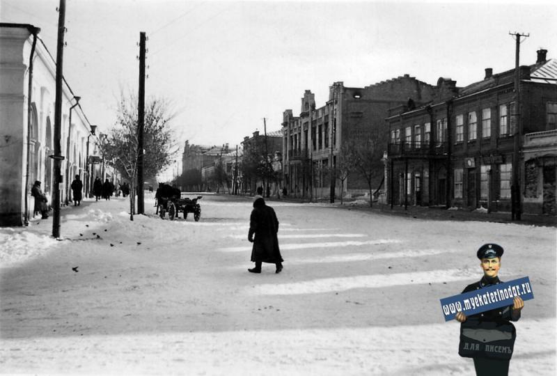 Ейск. Фото из альбома немецкого солдата, зима 1943 год.
