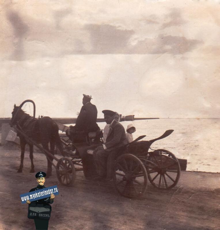 Ейск. Поездка на пляж, около 1914 года