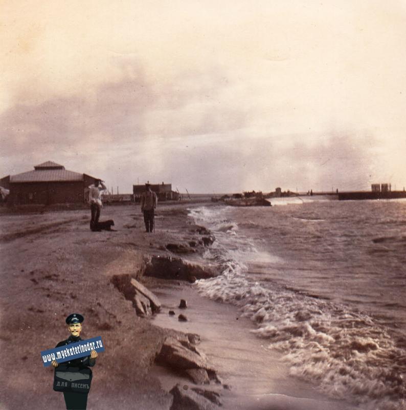 Ейск. Прибой на Лимане, около 1914 года