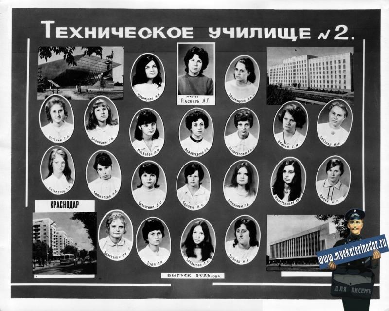 1973 год. Краснодарское Техническое училище № 2.