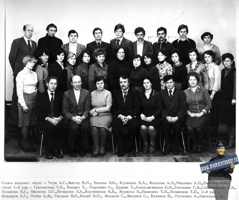 1978 год. КраснодарНИПИнефть. Строительный отдел