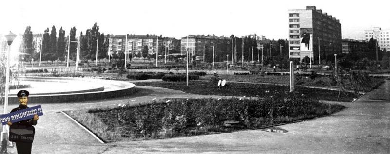 Краснодар. Перекресток ул. Атарбекова и Тургенева, 1983 год