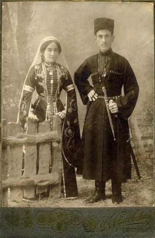 Екатеринодар. Фотоателье Сумовского И.А. Черкесская семейная пара
