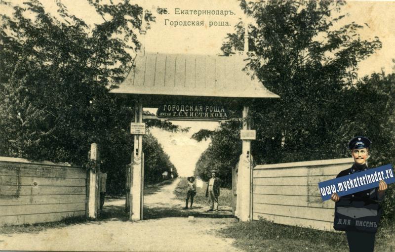 Екатеринодар. №25. Городская роща, около 1913 года