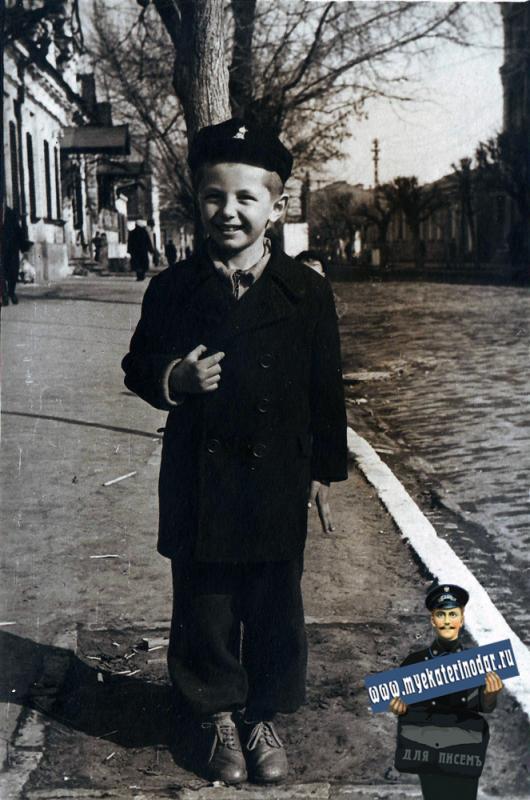 Краснодар. В марте 1955 года на улице Клары Цеткин.