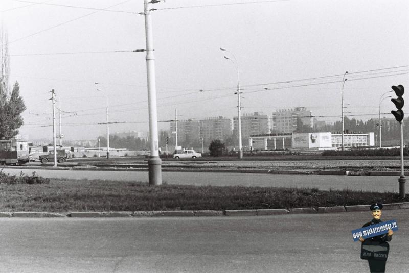 Краснодар. Кольцо на улице Карла Либкнехта , 1978 год.