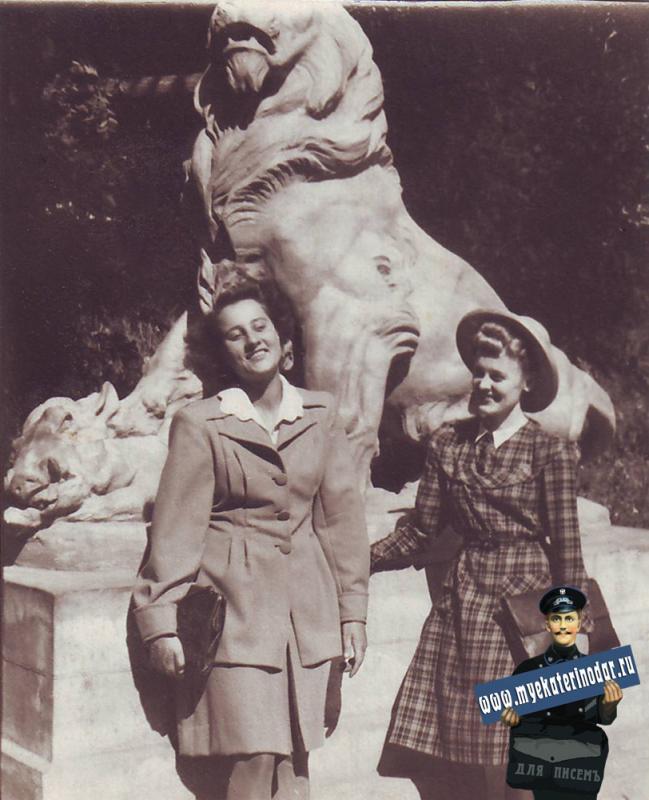 Краснодар. Первомайский сквер. 1949 год.