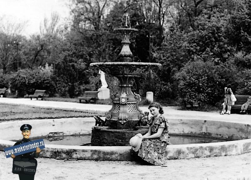 Краснодар. В Горпарке, 9 мая 1954 года. Фото 1.