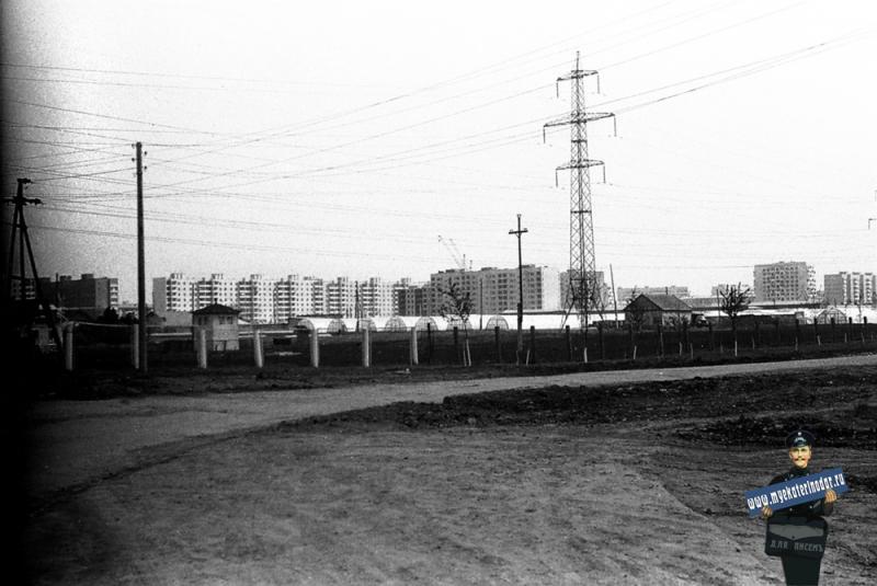 Краснодар. Вид на посёлок Гидростроителей с улицы Почтовой, вид на юго-восток, 1978 год.