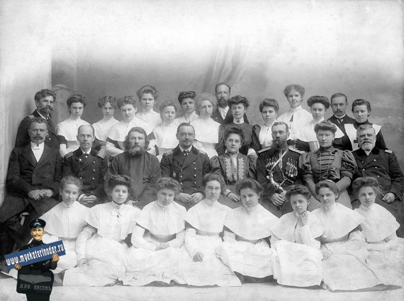 Екатеринодар. Кубанский Мариинский женский институт благородных девиц. Выпуск 1907 года.