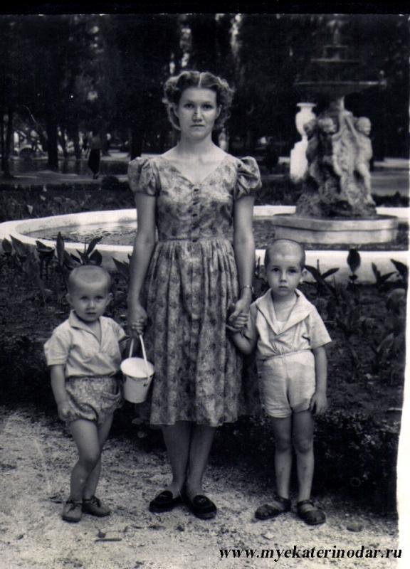 Краснодар. Парк им. М.Горького, лето 1960 года