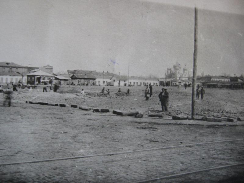 Краснодар. Реконструкция Старого базара, 1924 год.