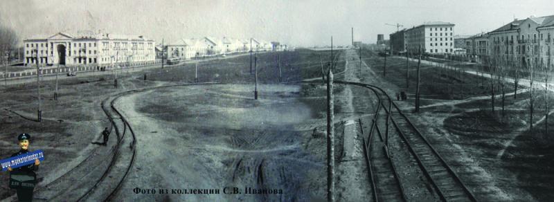 Угол улиц Красной и Светлой (Гаврилова), весна 1957 года.