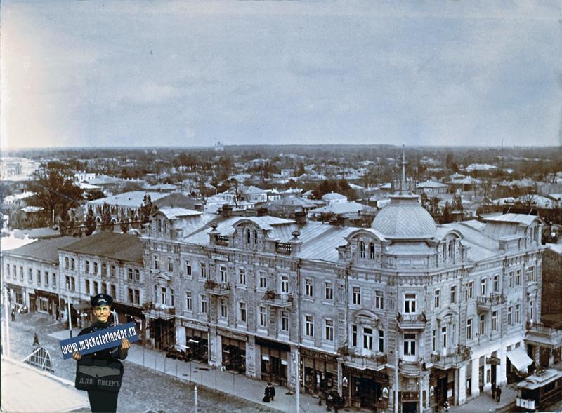 Екатеринодар. Угол улиц Екатерининской (Мира) и Красной, вид на северо-восток, начало 1900-х