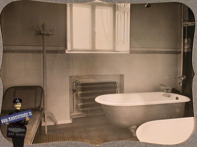 Екатеринодар. Вид части ванной комнаты, устроенной в лазарете общины, 1915 год