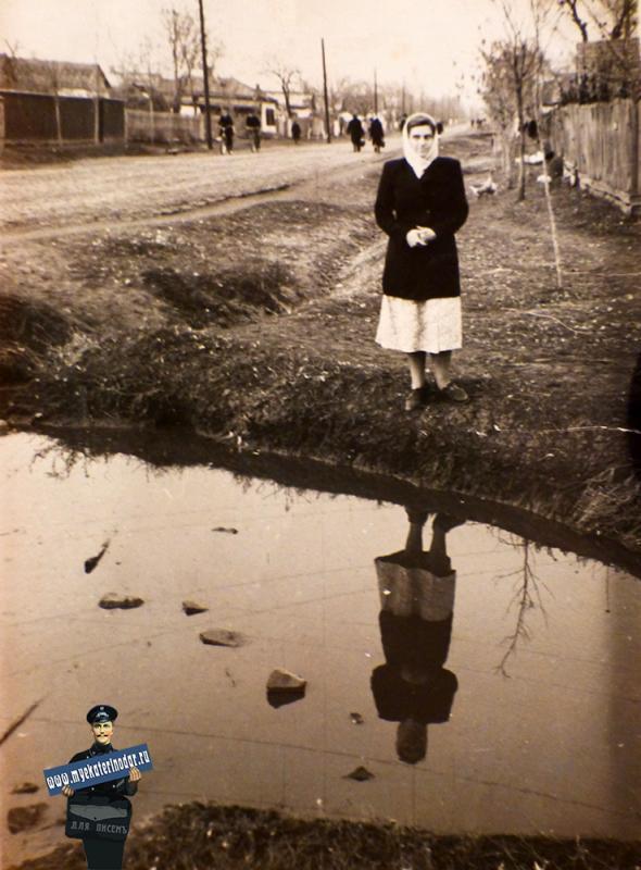 Краснодар. Свиной хутор - улица Аэродромная ( пересечение с Северным каналом), 1950 год