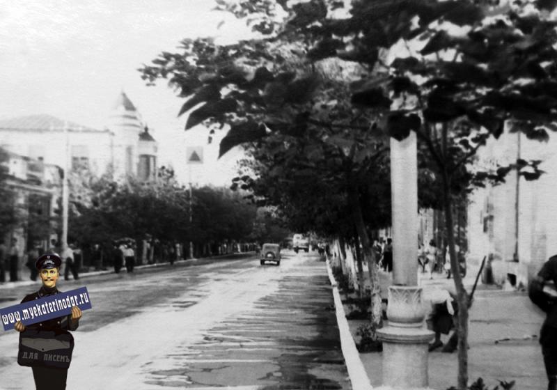 Краснодар. Улица Красная между улицами Свердлова и Чапаева.