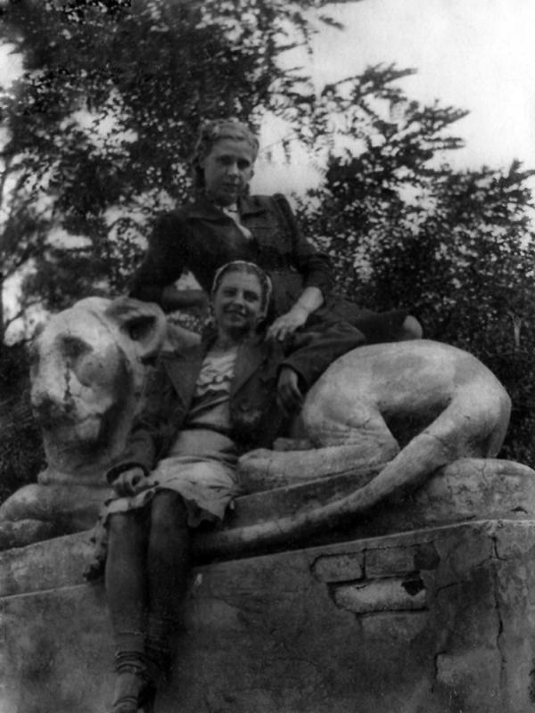 Краснодар. Фото со Львом в Горпарке, 1939 год.