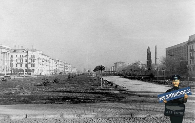 Краснодар. Улица Красная от Крестьянской. Вид на север
