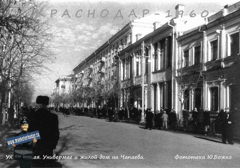 Красная, вид на север от Карасунской, 1960 год