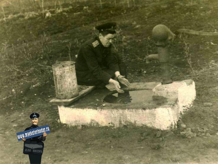 Краснодар. 1-ый Теплый проезд, дом 12. 1956 год.