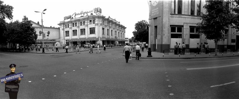 Краснодар. Перекресток улиц Красной Гоголя, вид на северо-восток, 1980 год