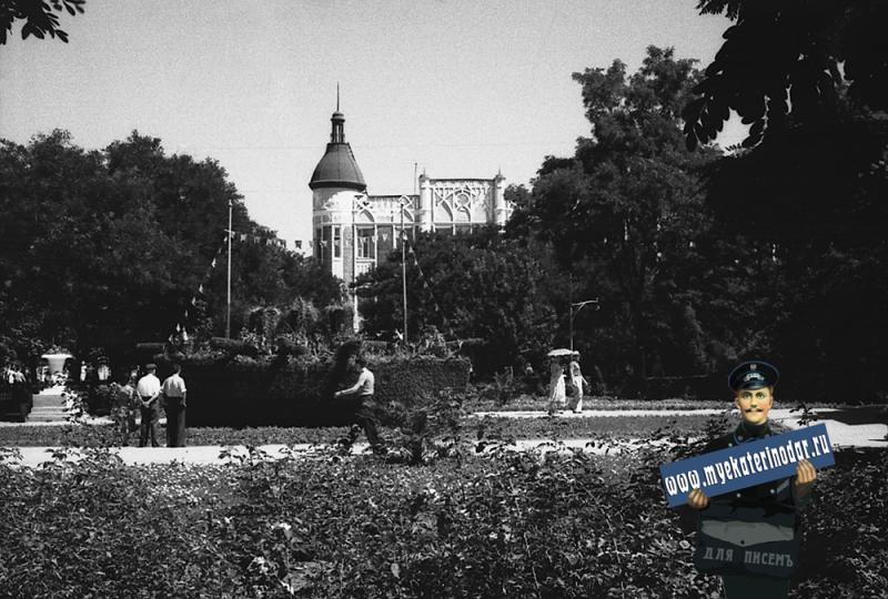 Краснодар. Цветочная Аврора в Первомайском сквере