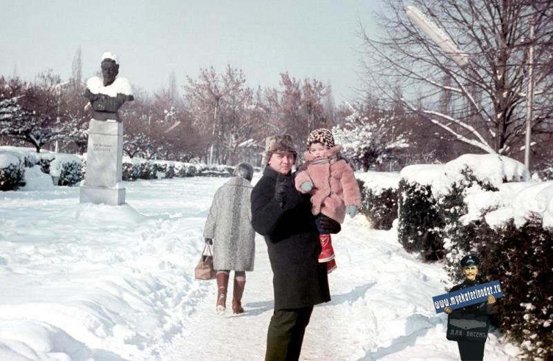 Краснодар. Детский сквер (Сквер им. Свердлова), зима 1971/1972 годов