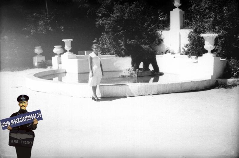 Краснодар. Фонтан с цветочным слоником, 1961 год