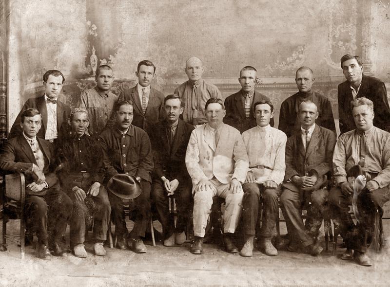 Краснодар. Инженеры и руководство Краснодарского отделения Северо-Кавказкой ж.д. 1924 г.