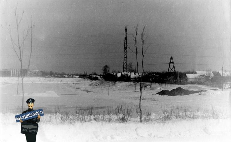 Краснодар. Карасун. Вид с автотрассы (ул. Мачуги), 1965 год
