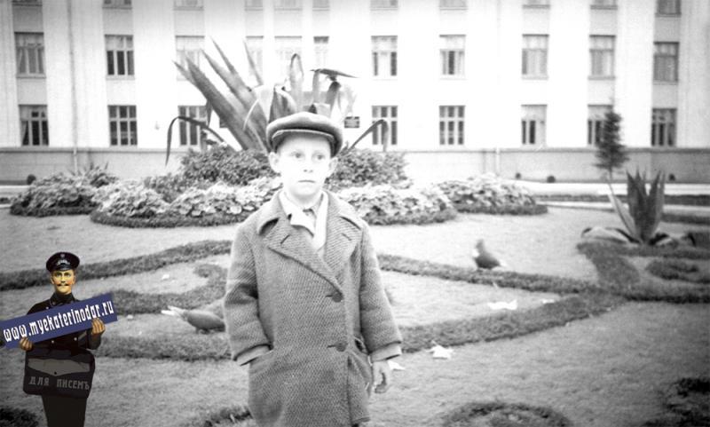 Краснодар. Клумба перед Домом советов, начало 1960-х годов