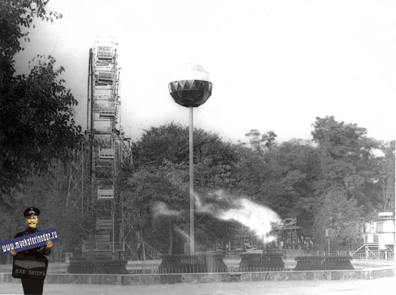 Краснодар. Колесо обозрения в парке Горького, 1982 год.