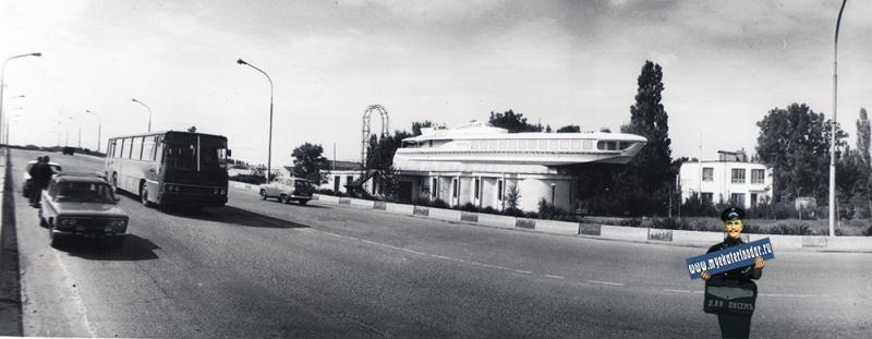 "Краснодар. Кооператив ""Ракета"" у нового автодорожного моста по ул. Тургенева, 1989 год"