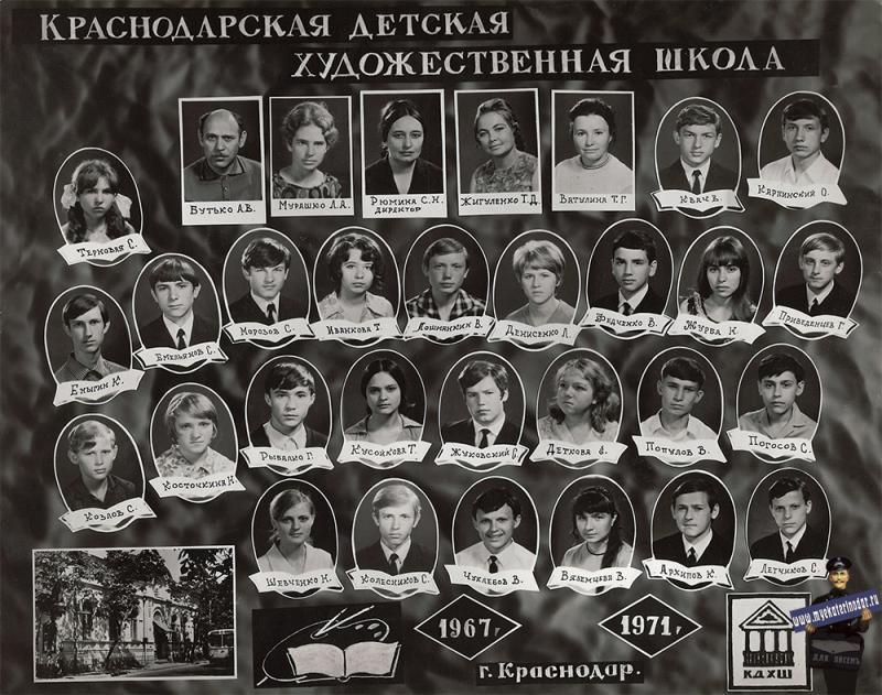 Краснодар. Краснодарская художественная школа, 1971 год.