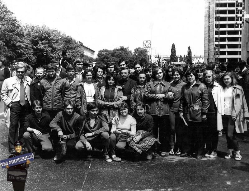 Краснодар. Легкоатлетическая эстафета, сборная сш №30, 9 мая 1976 год