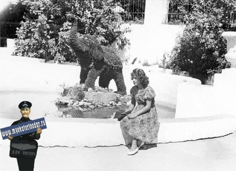 Краснодар. Парк им. М. Горького. Цветочный слоник, 1961 год.
